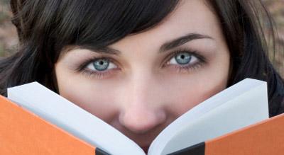 Girl Behind Book